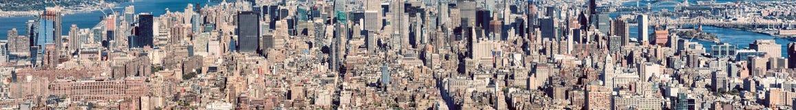 MIASTO NOWY JORK, PAŹDZIERNIK - 25, 2015: Panoramiczna miasto linia horyzontu od Fr Obrazy Royalty Free