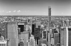 MIASTO NOWY JORK, PAŹDZIERNIK - 23, 2015: Widok z lotu ptaka Manhattan od Obrazy Royalty Free