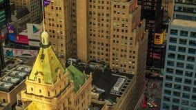 MIASTO NOWY JORK, PAŹDZIERNIK 9, 2014 - zmierzch przy Manhattan zbiory wideo