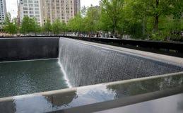 Miasto Nowy Jork 9/11 Pamiątkowych odbić basenów Zdjęcia Stock
