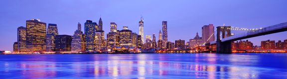 Miasto Nowy Jork panorama Obrazy Royalty Free