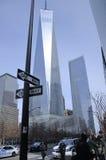 Miasto Nowy Jork policja przy punktem zerowym wybuchu Zdjęcia Royalty Free
