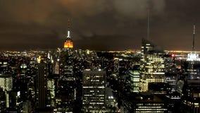 Miasto Nowy Jork przy nocą zbiory