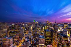Miasto Nowy Jork przy półmrokiem Fotografia Royalty Free