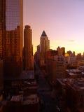 Miasto Nowy Jork Przy półmrokiem od 22nd podłoga Obraz Stock