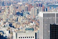 Miasto Nowy Jork środek miasta i uptown linii horyzontu widok z lotu ptaka z drapaczami chmur Obraz Royalty Free