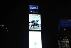 Miasto Nowy Jork, Sierpień 3nd: Times Square Reklamuje nocą w Manhattan w Miasto Nowy Jork obraz stock