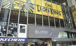 Miasto Nowy Jork, Sierpień 2nd: Times Square Reklamuje nocą w Manhattan w Miasto Nowy Jork zdjęcia stock