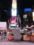 Miasto Nowy Jork, Sierpień 2nd: Times Square zabytek nocą w Manhattan w Miasto Nowy Jork Fotografia Royalty Free