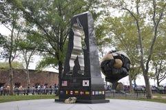 Miasto Nowy Jork, Sierpień 2nd: Wojna Koreańska pomnik od Bateryjnego parka w lower manhattan Miasto Nowy Jork obraz stock