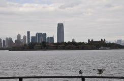 Miasto Nowy Jork, Sierpień 2nd: Ellis wyspa od hudsonu w Miasto Nowy Jork Zdjęcia Stock