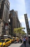Miasto Nowy Jork, Sierpień 2nd: Taxi stacja od Manhattan w Miasto Nowy Jork Obrazy Royalty Free