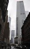 Miasto Nowy Jork, Sierpień 2nd: Uliczny widok w Manhatten Miasto Nowy Jork Zdjęcia Stock