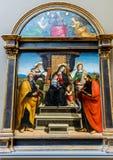 Miasto Nowy Jork Spotykający dziecko i madonna Intronizujący z świętymi - Raphael - fotografia royalty free