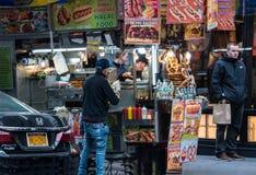 Miasto Nowy Jork sprzedawca uliczny fotografia stock