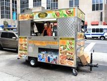 Miasto Nowy Jork sprzedawca uliczny Zdjęcia Stock