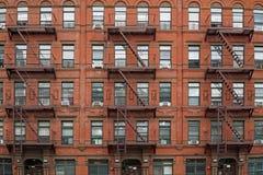 Miasto Nowy Jork, stary, budynek mieszkaniowy obraz royalty free