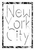 Miasto Nowy Jork sztuka Uliczny grafika styl NYC Moda Zdjęcia Royalty Free