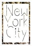 Miasto Nowy Jork sztuka Uliczny grafika styl NYC Moda Zdjęcie Stock