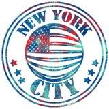 Miasto Nowy Jork sztuka Uliczny grafika styl NYC Moda Obrazy Royalty Free