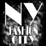 Miasto Nowy Jork sztuka Uliczny grafika styl NYC Moda elegancka Zdjęcie Stock