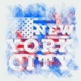 Miasto Nowy Jork sztuka Uliczny grafika styl NYC Moda elegancki druk Szablon odzież, karta, etykietka, plakat emblemat, koszulka  Obraz Royalty Free