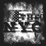 Miasto Nowy Jork sztuka Uliczny grafika styl NYC Moda elegancki druk Szablon odzież, karta, etykietka, plakat emblemat, koszulka  Zdjęcie Royalty Free