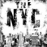Miasto Nowy Jork sztuka Uliczny grafika styl NYC Moda elegancki druk Szablon odzież, karta, etykietka, plakat emblemat, koszulka  Zdjęcia Royalty Free