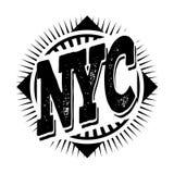 Miasto Nowy Jork sztuka Uliczny grafika styl NYC Mody elegancki pri Zdjęcia Stock