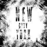 Miasto Nowy Jork sztuka Uliczny grafika styl NYC Mody elegancki pri Zdjęcie Stock