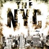 Miasto Nowy Jork sztuka Uliczny grafika styl NYC Mody elegancki pri Obrazy Stock
