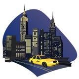 Miasto Nowy Jork Taxi ilustracji