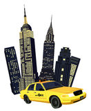 Miasto Nowy Jork Taxi royalty ilustracja