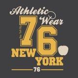 Miasto Nowy Jork typografii grafika ilustracja wektor