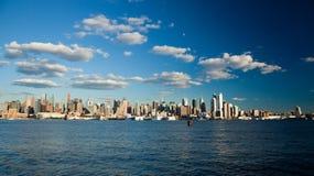 Miasto Nowy Jork Uptown linia horyzontu Zdjęcia Stock