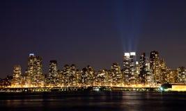 Miasto Nowy Jork Uptown linia horyzontu Zdjęcie Royalty Free