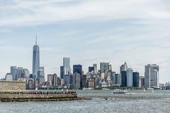 Miasto Nowy Jork usa linia horyzontu Duży Apple hudsen Rzecznego widok Zdjęcia Royalty Free
