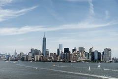 Miasto Nowy Jork usa linia horyzontu Duży Apple hudsen Rzecznego widok Fotografia Royalty Free