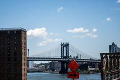 Miasto Nowy Jork usa linii horyzontu Apple Duży most Hudson Obraz Stock