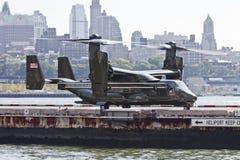 Miasto Nowy Jork, usa MV-22 rybołów Obraz Stock