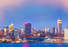 Miasto Nowy Jork, USA W centrum budynki w Manhattan Zdjęcia Royalty Free