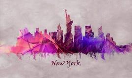 Miasto Nowy Jork w usa, linia horyzontu obrazy stock