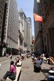 Miasto Nowy Jork, Wall Street okręg - Fotografia Royalty Free