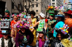 Miasto Nowy Jork: 2016 Wielkanocnych parad uczestników Fotografia Stock