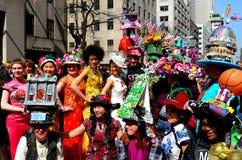 Miasto Nowy Jork: 2016 Wielkanocnych parad uczestników Obraz Stock