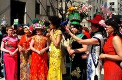 Miasto Nowy Jork: 2016 Wielkanocnych parad uczestników Zdjęcia Royalty Free