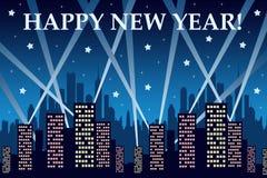 Miasto nowy rok Obraz Royalty Free