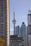Miasto obserwaci i architektury wierza w Toronto, Ontario Fotografia Stock