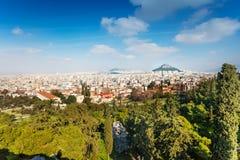 Miasto od akropolu w Ateny, Grecja Fotografia Royalty Free