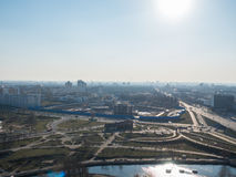 Miasto od Ptasiej ` s perspektywy fotografia stock